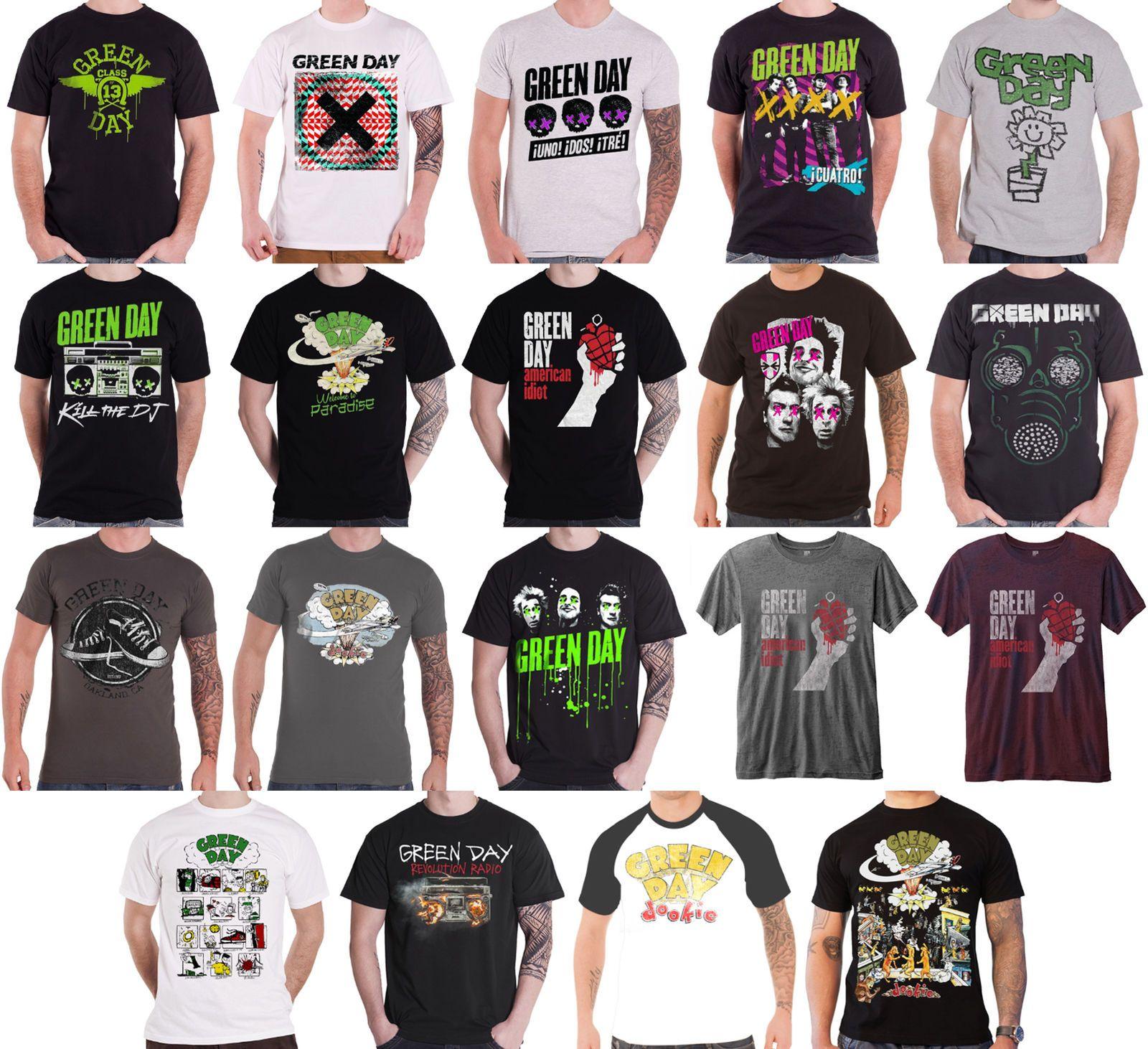 photo bloc T-shirt 100/% Official Merchandise Green Day Unisexe Tee