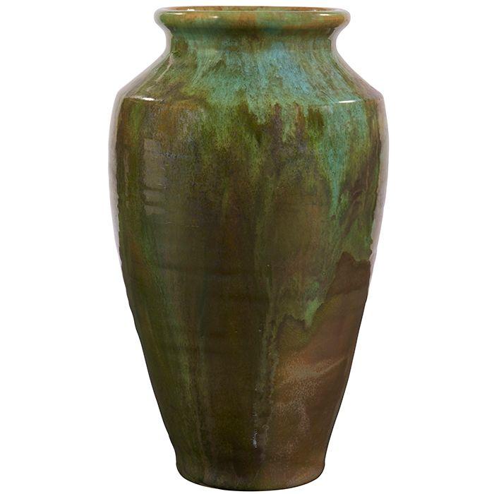 Pewabic Vase Detroit Mi Metallic Glazed Ceramic Impressed