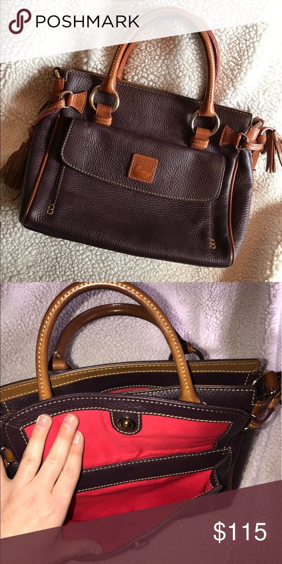 Dooney & Bourke Medium Pebbled Leather Satchel Grape Pebbled Leather, Satchel style. In great condition! Authentic Dooney/Genuine Leather. Only comes as in picture, no crossbody strap or matching coin purse. Super cute and compact! *More pictures coming* Dooney & Bourke Bags Satchels