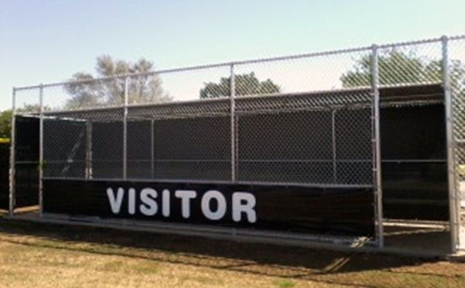 Baseball Softball Windscreens Baseball Dugout Softball Basketball Floor