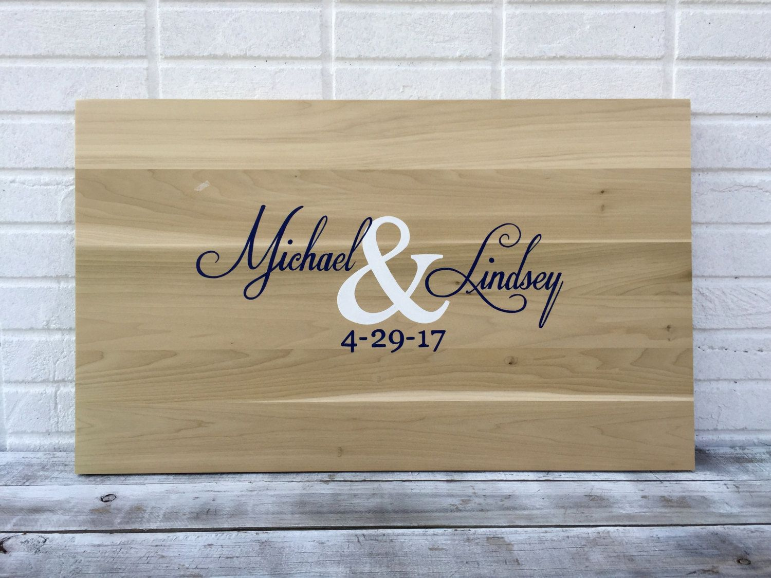 Wedding Guestbook Board With Pen Wood Guest Book Idea Guest Book
