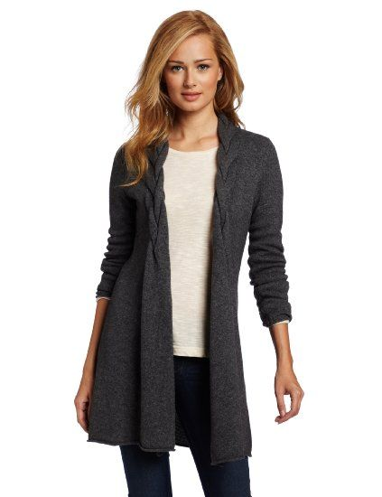 Sofie Women's 100% Cashmere Braided Cashmere Cardigan Sweater ...