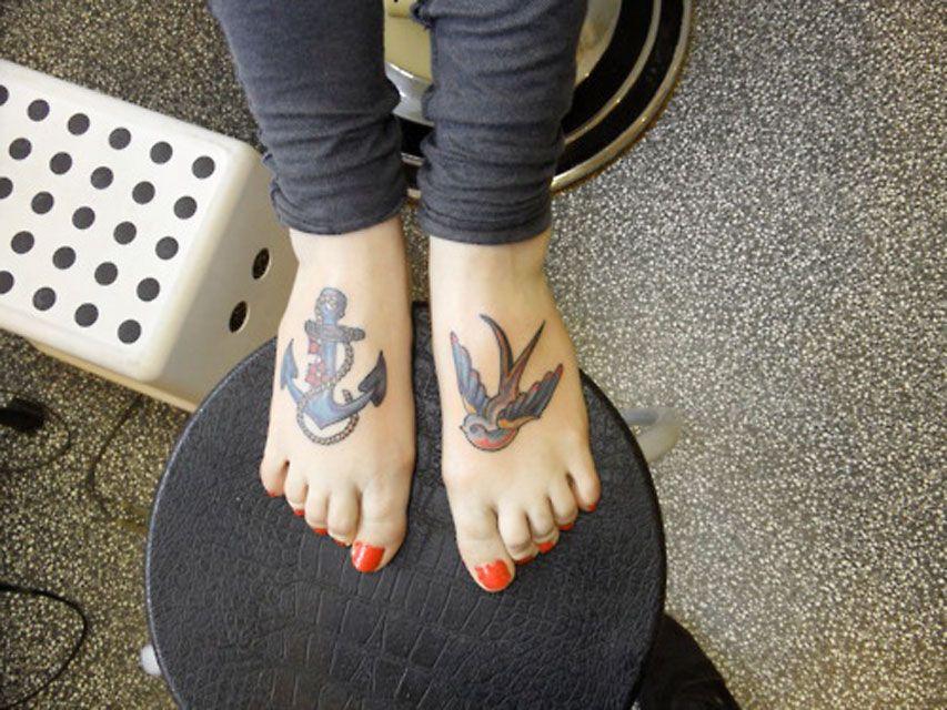 Swallow And Anchor Tats Tattoo Idea