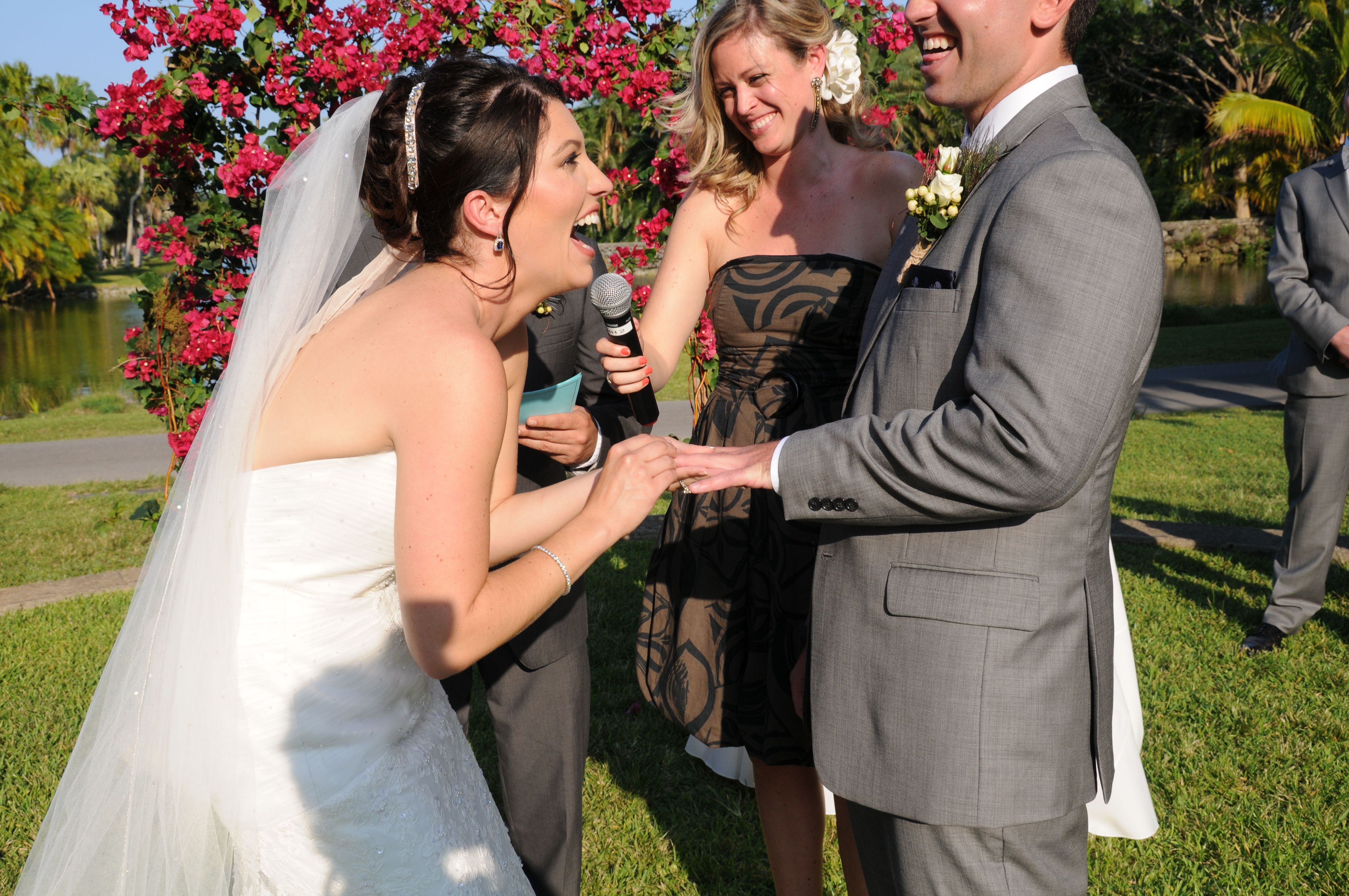 Having Our Friends Get Ordained And Officiate The Wedding Was A Great Decision It Made The Ceremony Very Personal And Br Garden Chic Wedding Bride Bride Groom