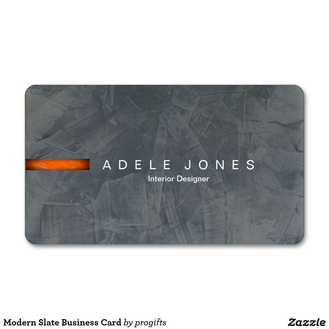 Modern Slate Business Card | Business cards, Slate and Business