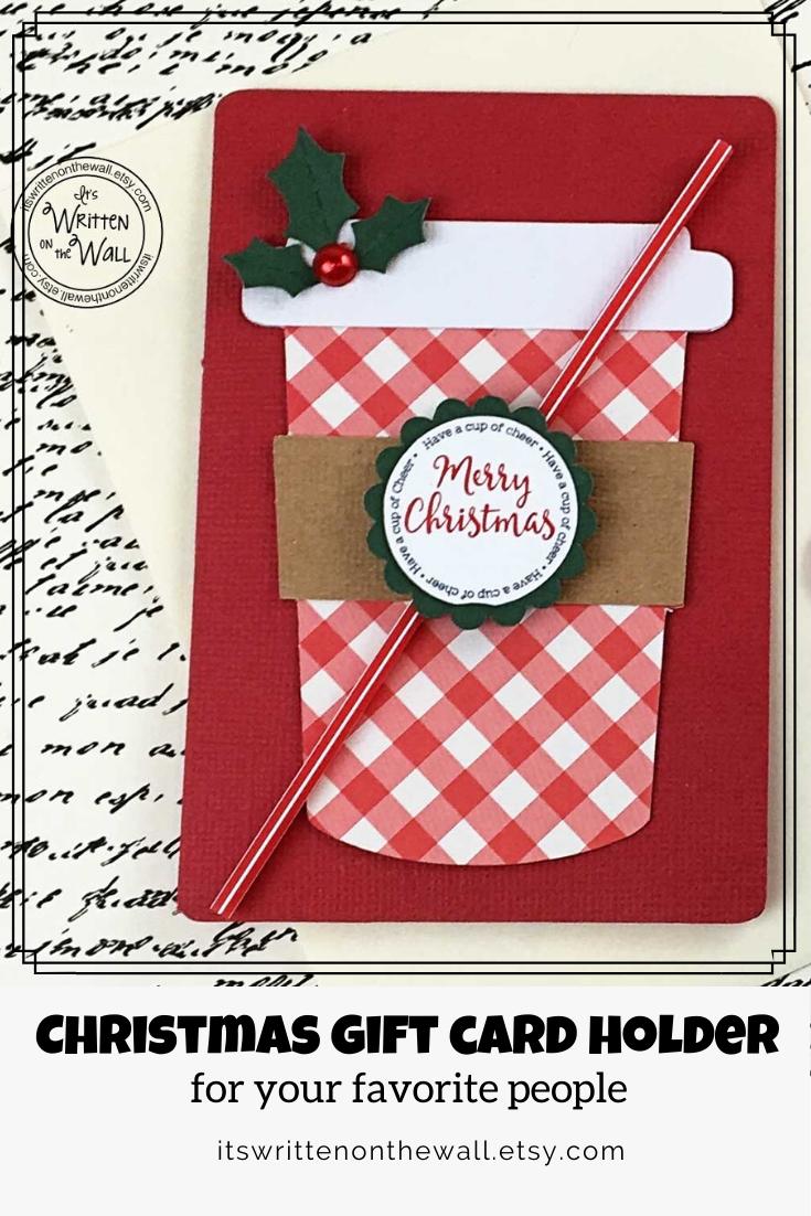 Christmas Gift Card Holder Starbucks Stocking Stuffer Employee Appreciation Christmas Gift Card Holders Starbucks Gift Card Holder Christmas Gift Card
