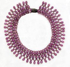 Free pattern for necklace Violet Morning | Beads Magic