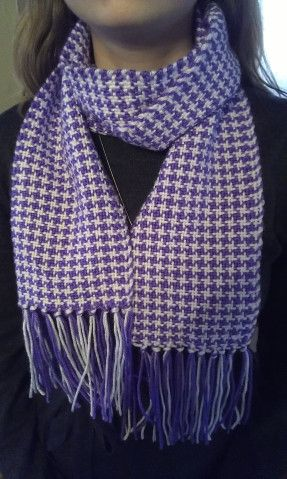 How to Weave the Houndstooth Pattern | Woven scarves ...