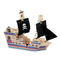 Pirate Ship Pretend Play Wooden Toy by Melissa  & Doug