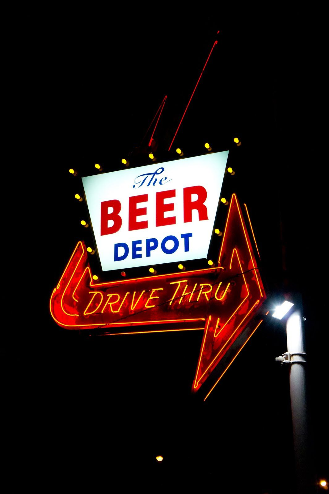 Beer Depot Drive Thru Sign Old Signs Neon Signs Retro Sign