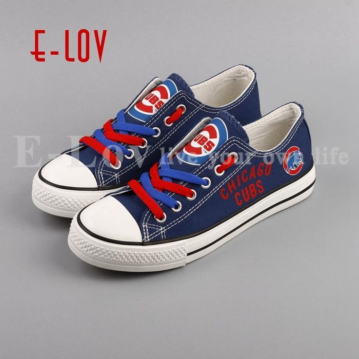 a0406c60 FREE SHIPPING - Chicago Cubs Canvas Shoes - MLB Chicago Cubs Shoes -  99myshop