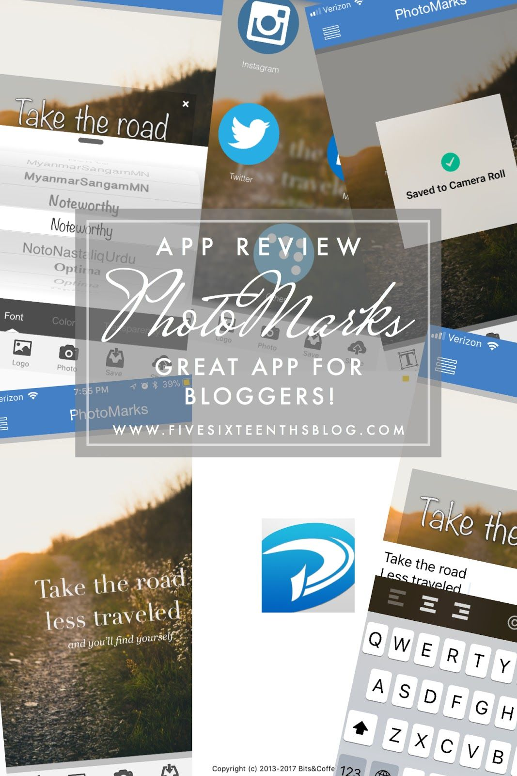 App Review // PhotoMarks Text on photo, App, How to be