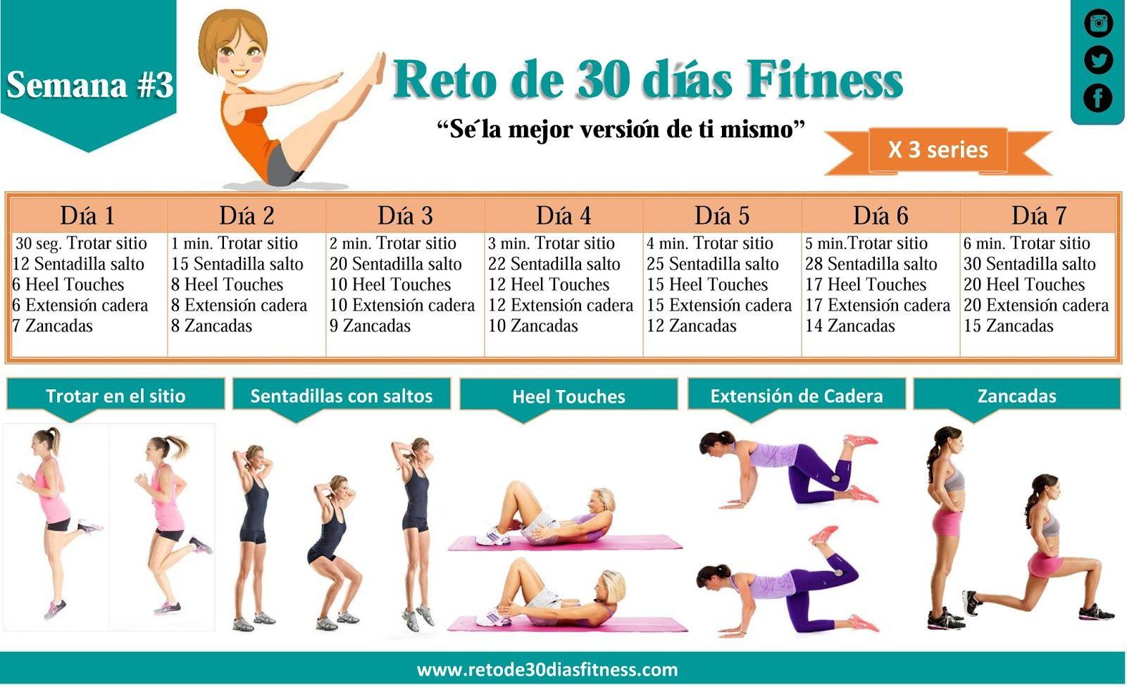 Semana 1 ejercicios para bajar de peso y tonificar