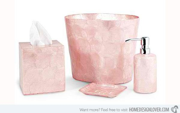 Charmant 15 Chic Pink Bathroom Accessories Set