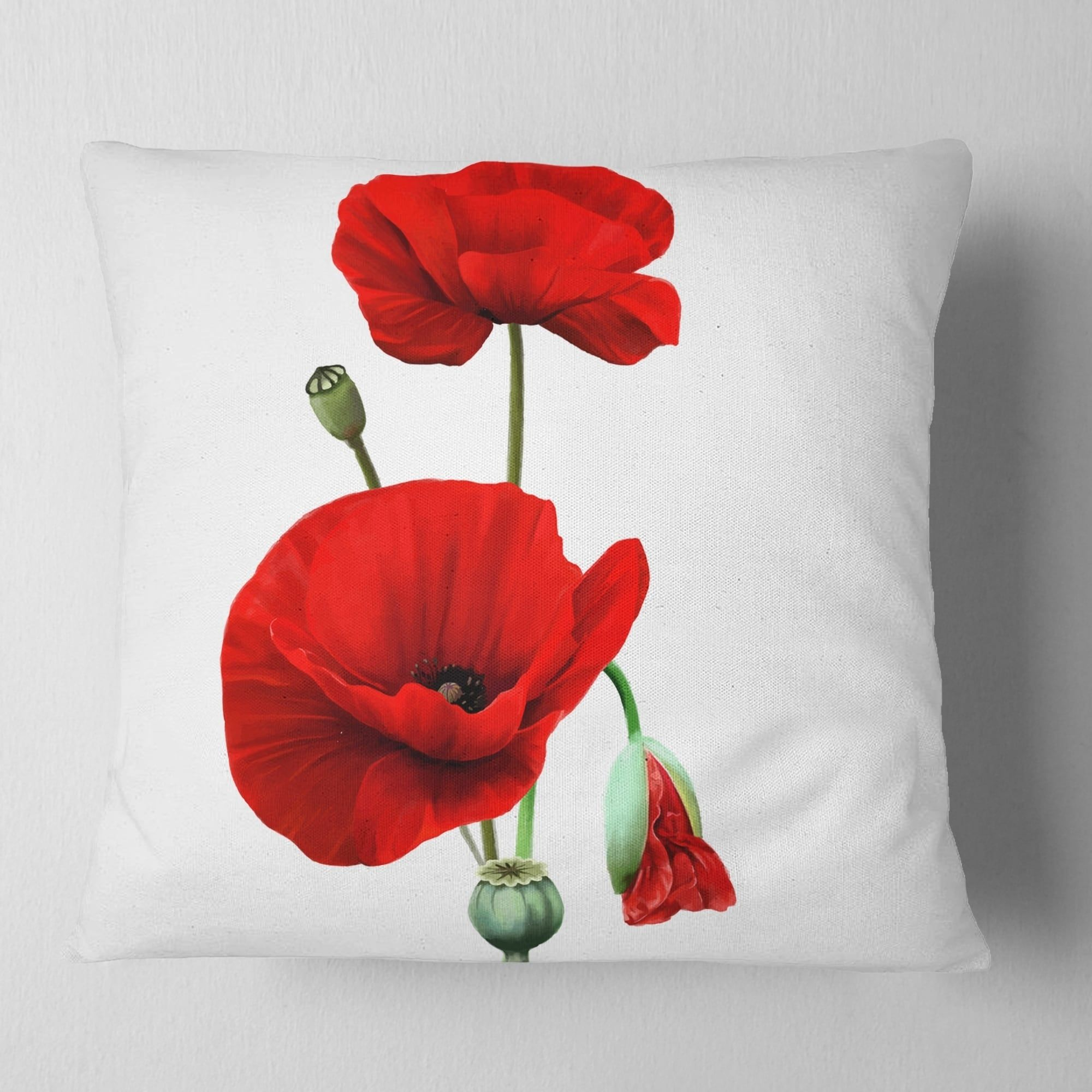 Overstock Com Online Shopping Bedding Furniture Electronics Jewelry Clothing More In 2021 Floral Throw Pillows Pink Painting Red Poppies