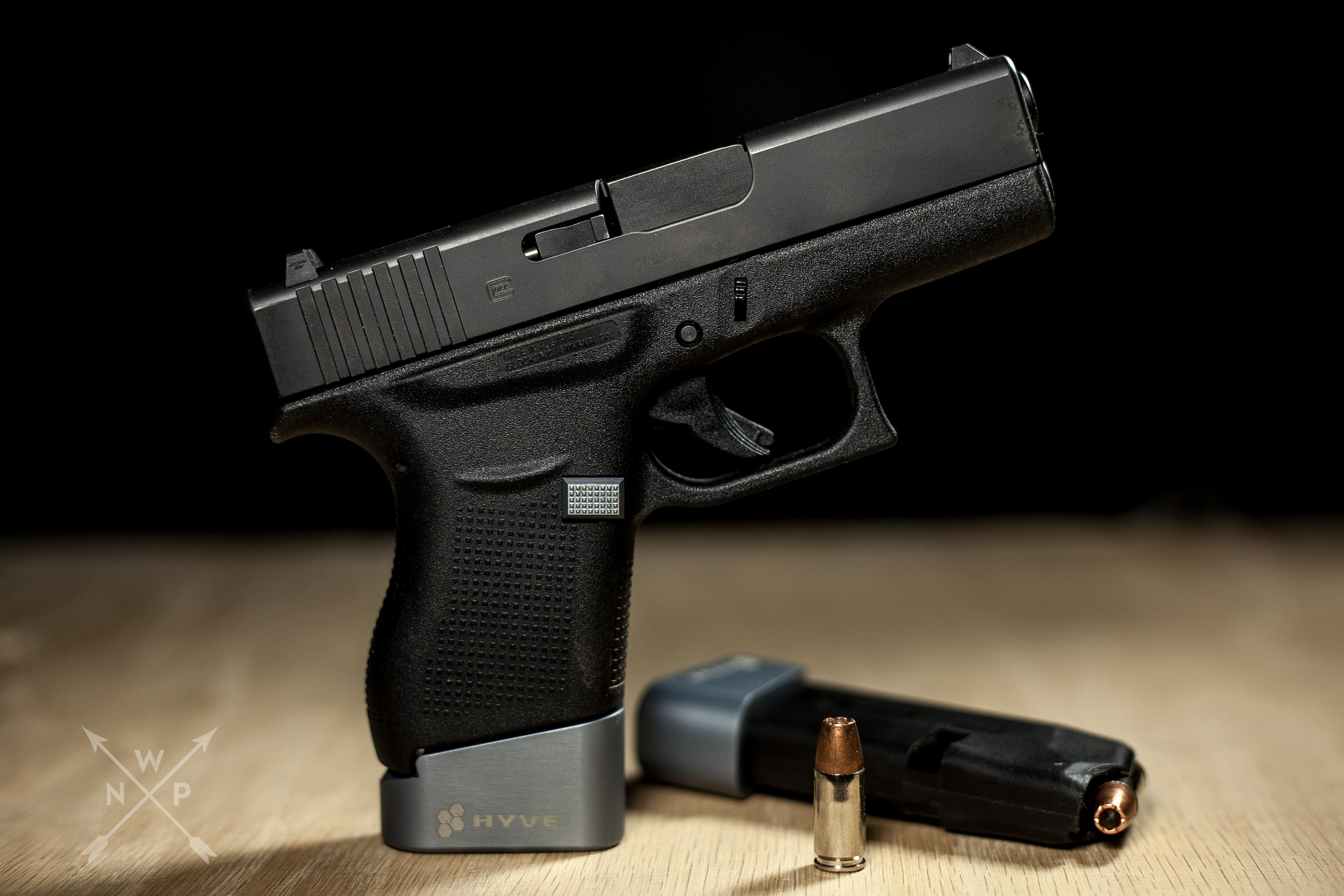Glock 43 w- Hyve Technologies +2 mag extension and extended mag