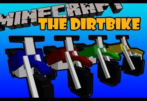 The Dirtbike Mod 1 7 10 1 7 2 And 1 6 4 Minecraft Mods Minecraft Minecraft 1