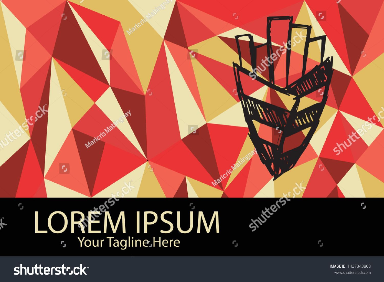 Isolated Vector Illustration Red and Yellow Polygon Geometric of French Fries Fo  Isolated Vector Illustration Red and Yellow Polygon Geometric of French Fries Food Flat...