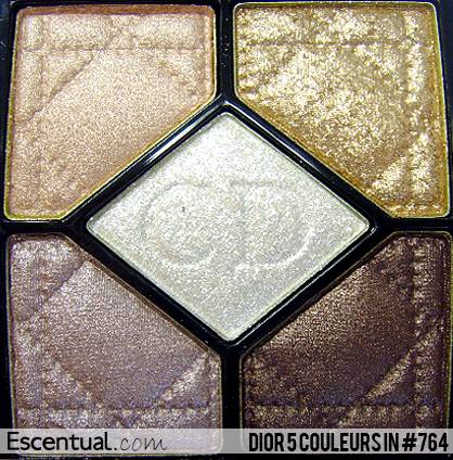 Dior Grand Bal 5 Couleurs Eyeshadow #764 Fairy Golds - Christmas Collection