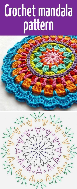 Gehäkeltes Mandalamuster, #crochetmandala #gehakeltes #mandalamuster #crochetmandalapattern