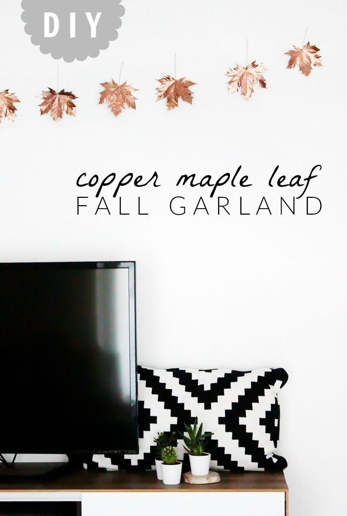 Bild von DIY Girlande Herbst Kupfer