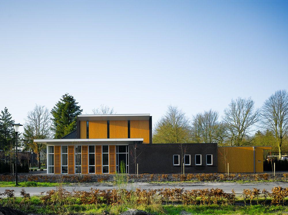 modern house orange dark exterior design ideas