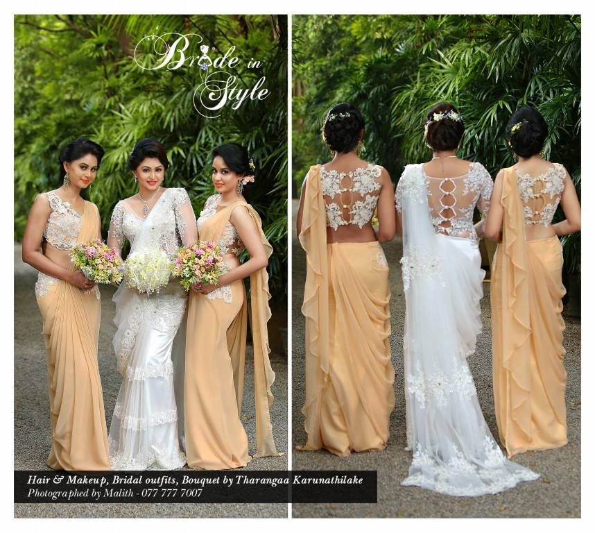 Dress designing bride in style sri lankan weddings for Wedding party dresses in sri lanka