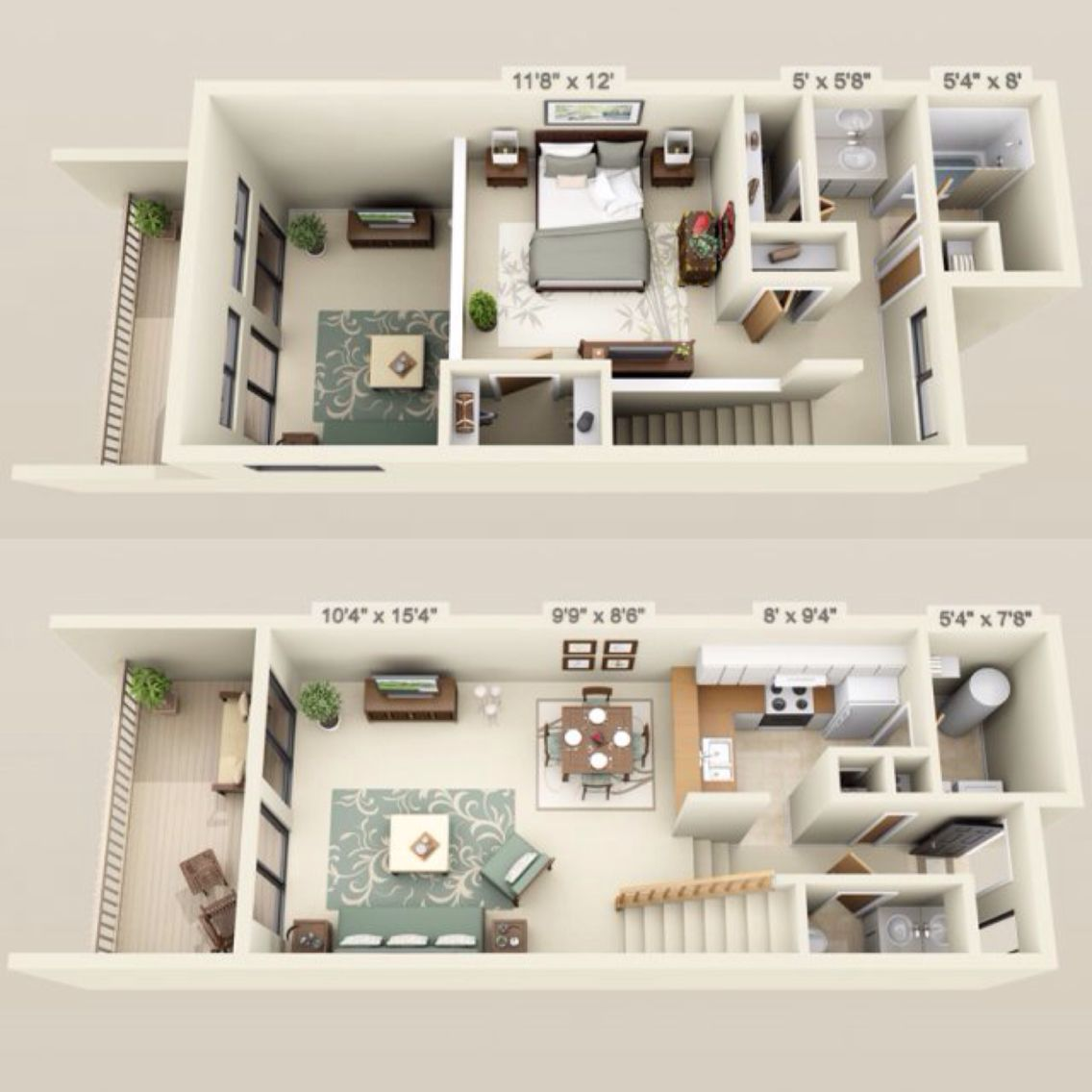 700 755 Rent 200 Dep 1 Bed 1 5 Baths 704 Sq Feet Apartment Floor Plans Small House Plans Sims House Plans