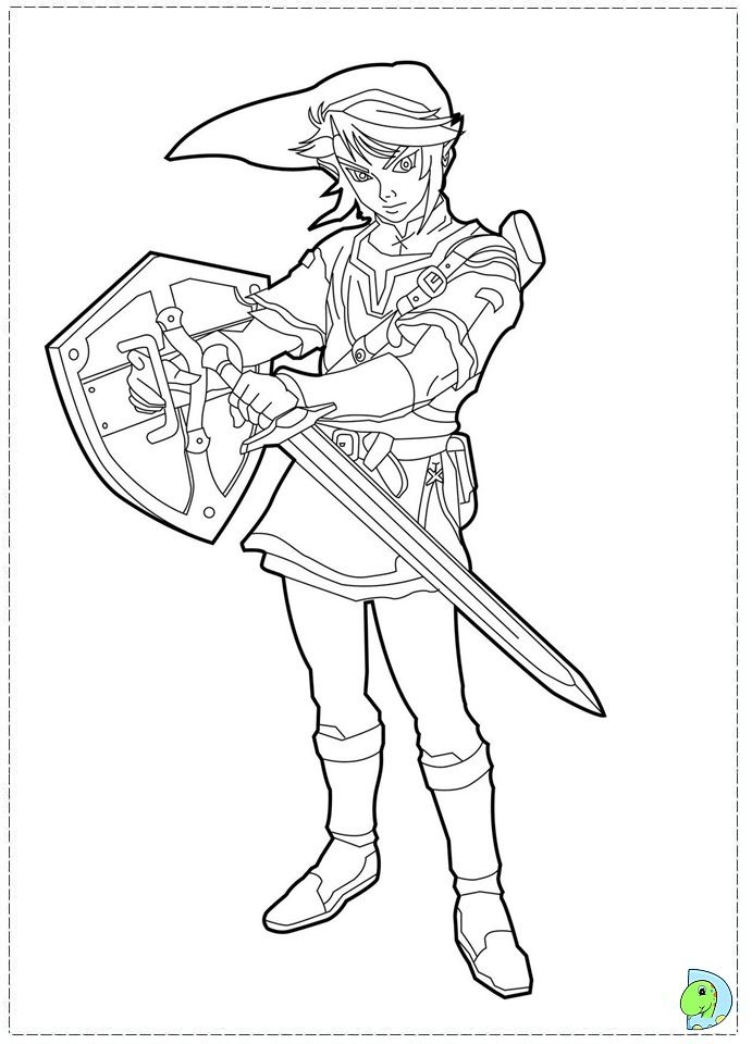 The Legend Of Zelda Boy Coloring Pages Pinterest Coloring