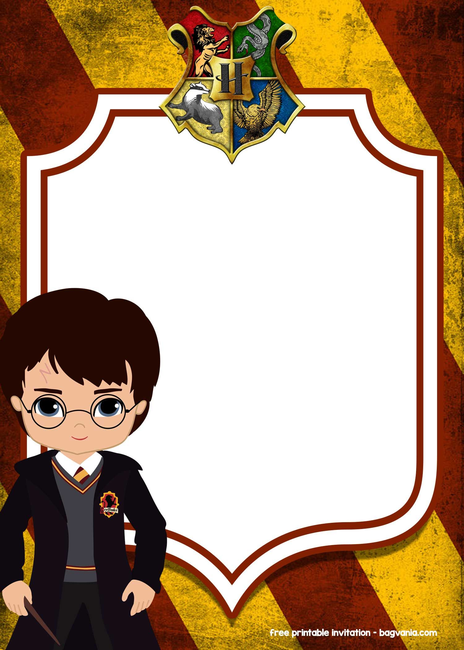 Free Printable Harry Potter Invitation Templates Drevio Invitations D Harry Potter Invitations Harry Potter Printables Free Harry Potter Birthday Invitations