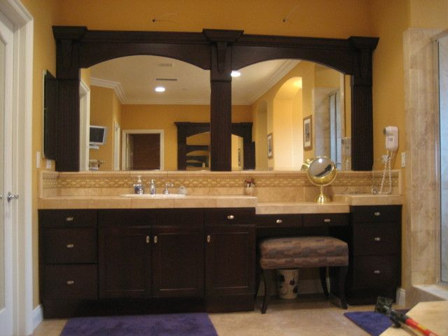 Vanity - Refinishing New Framed Mirrors and Doors traditional bathroom