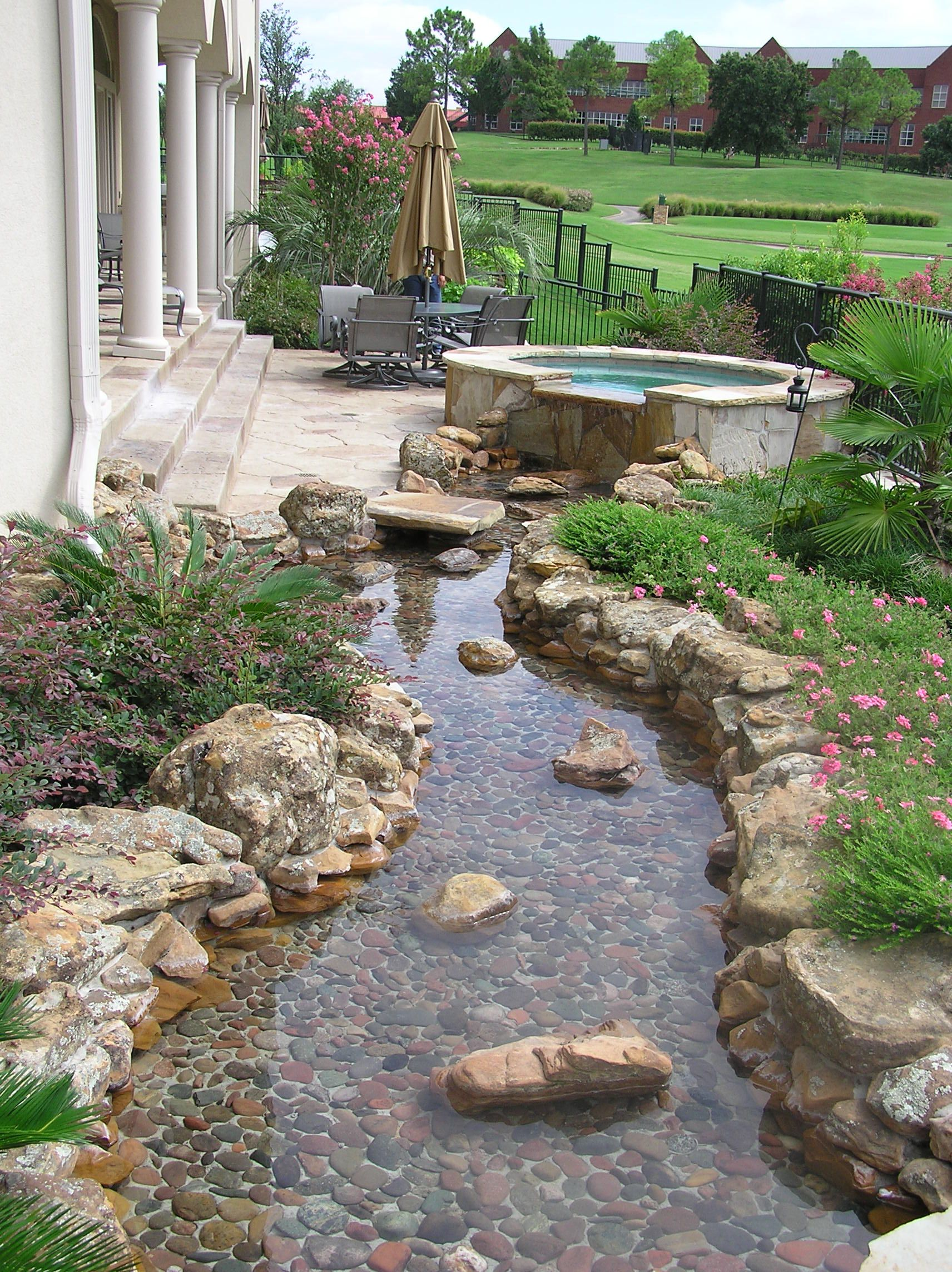 Def don 39 t need the pool overflow but like the pathway and for Garden pond overflow design