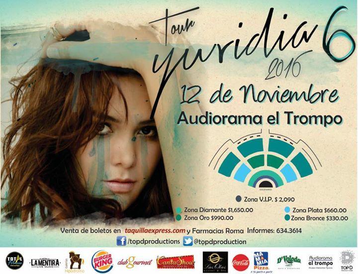 Ya casi a un mes del concierto de Yuridia en Tijuana! Ya tienes tus boletos?