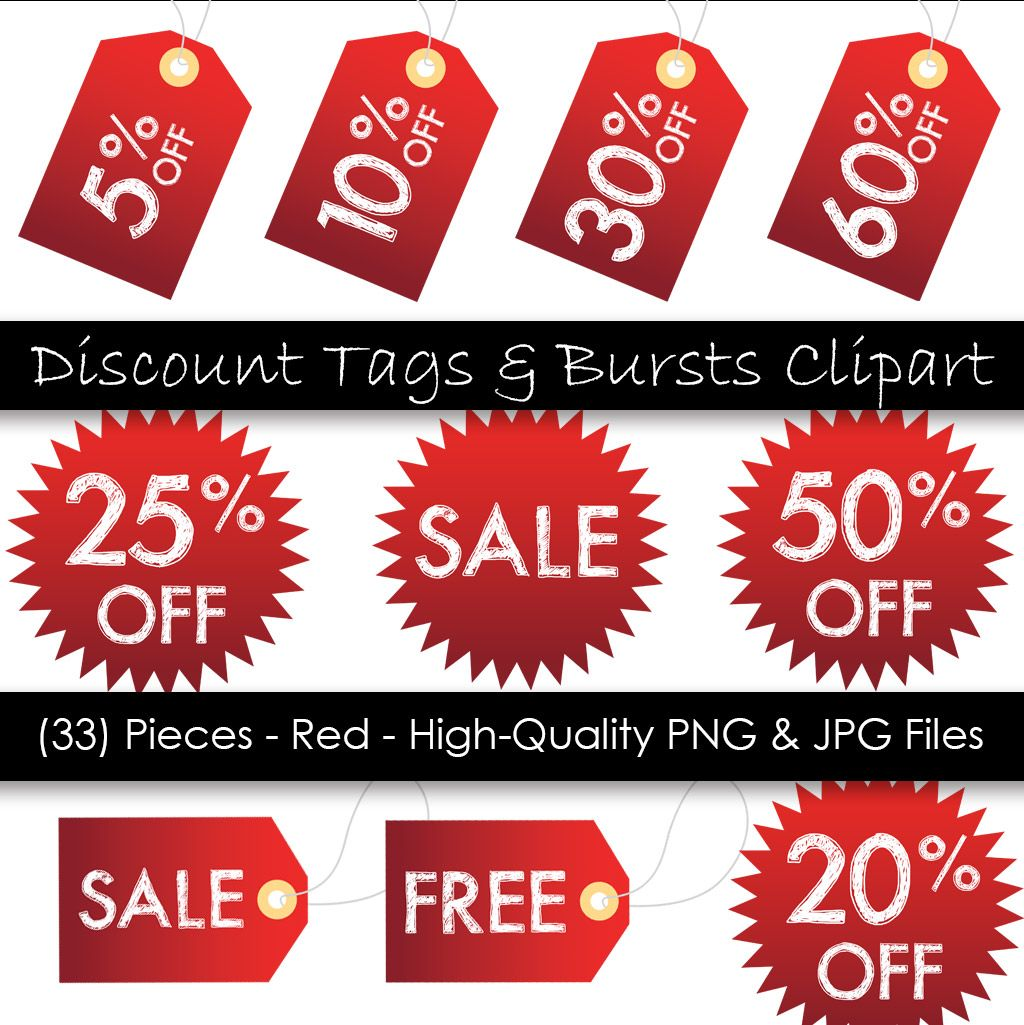Price Tag Clipart Printable Hang Tags Red Sale Tags 33 Etsy Clip Art Hang Tags Sale Banner