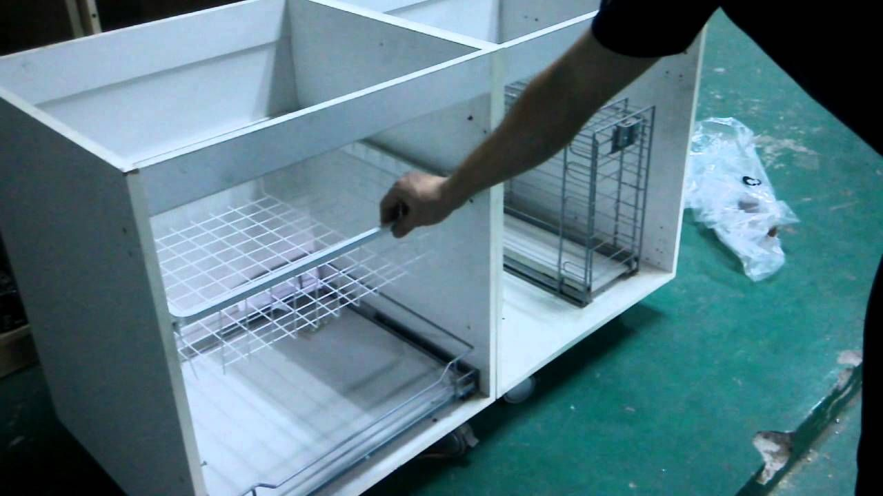 installation | Kithchen Pull-Out Basket for 400mm cabinet | Pinterest