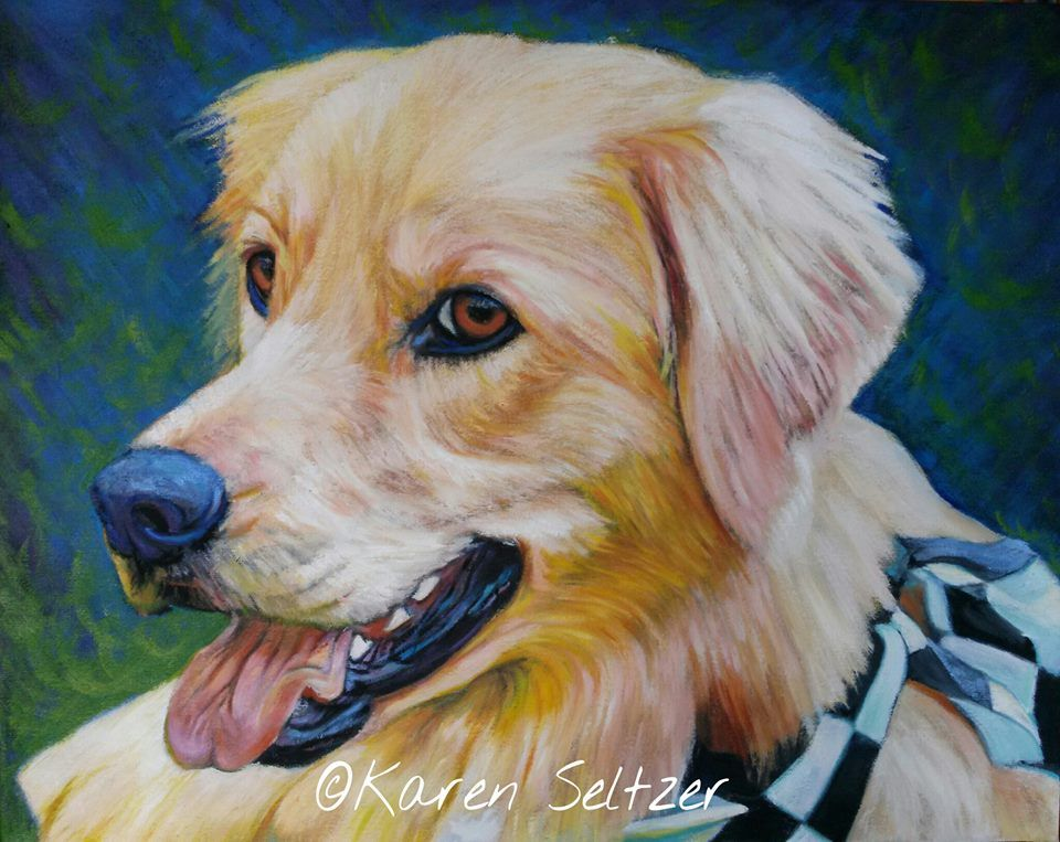 TOP DOG of IndyHumane's Mutt Strut. Oil on canvas. 16 x 20