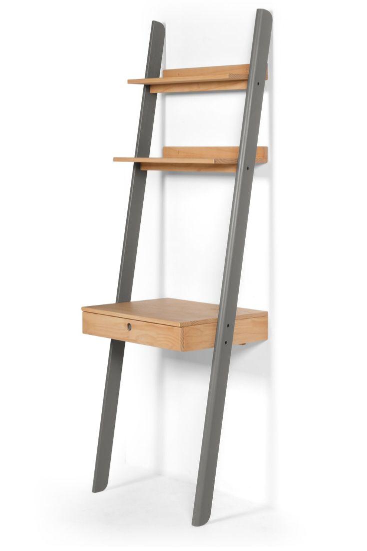 kleur schreibtisch pinie und grau wands. Black Bedroom Furniture Sets. Home Design Ideas