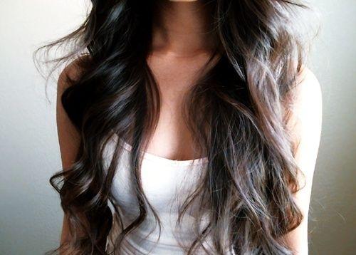 brown hair long hair waves
