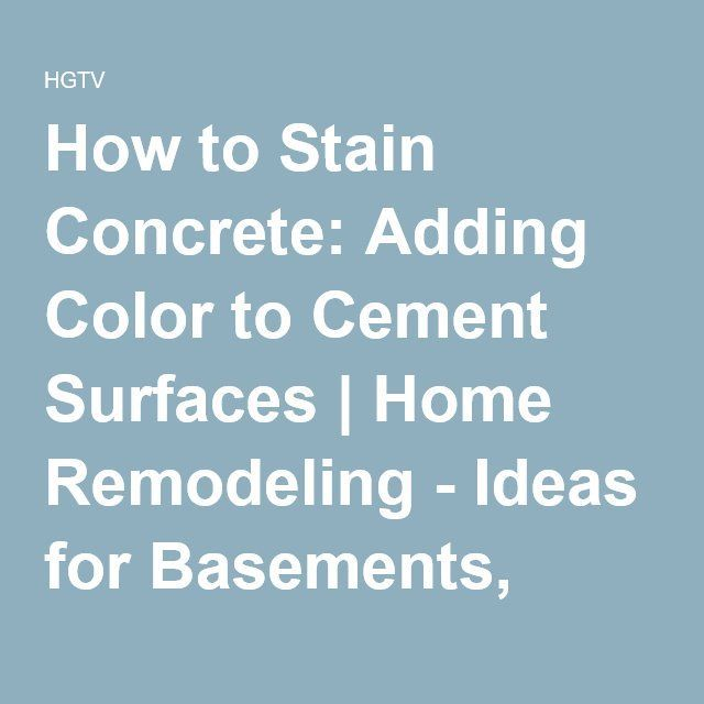 How To Stain Concrete: Adding Color To Cement Surfaces