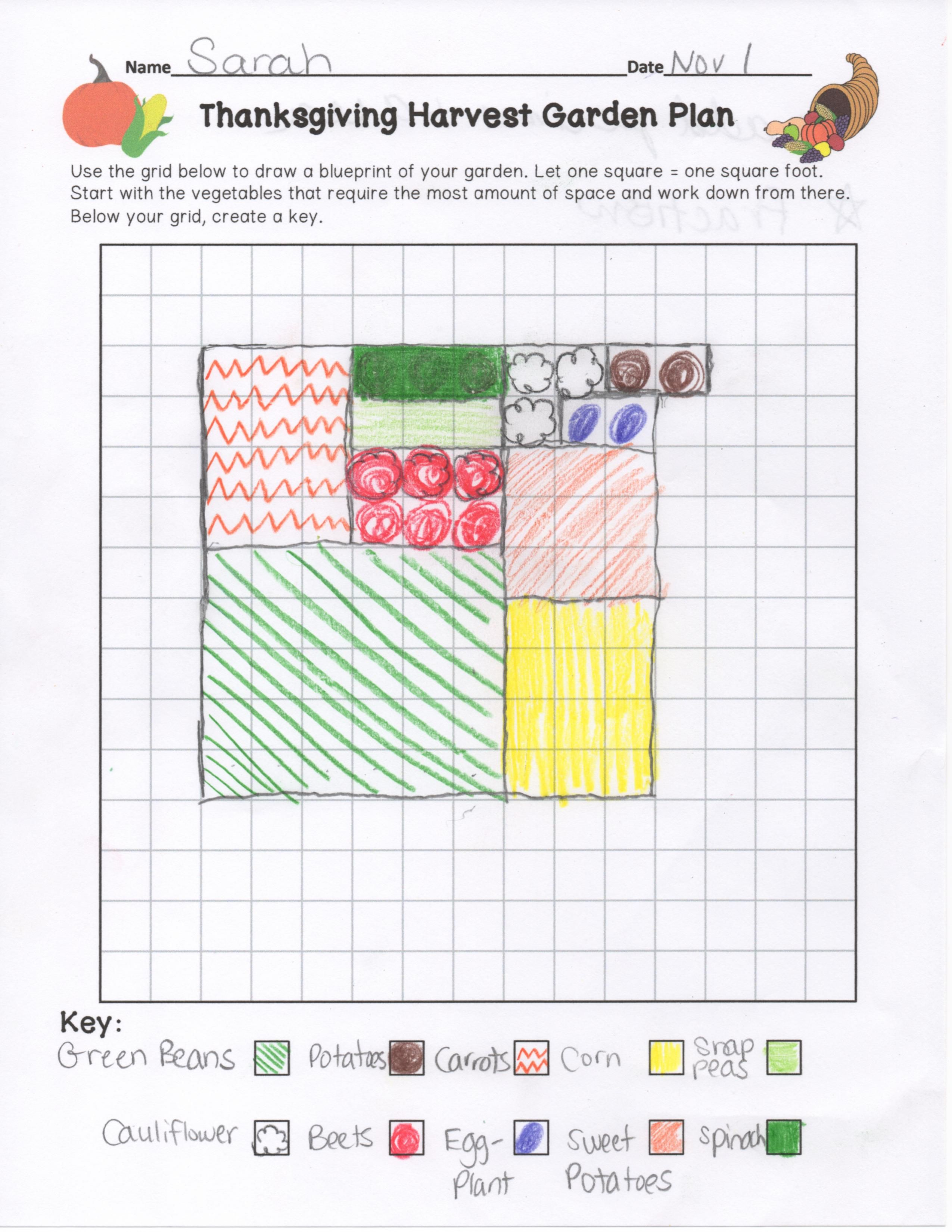 So Many Math Skills Have Students Plan A Garden That Is Ready To Be Harvested By Thanksgiving They Have To Math Projects Area And Perimeter Thanksgiving Math [ 3300 x 2550 Pixel ]