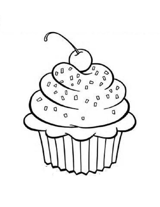 Cupcake Coloring Pages Print