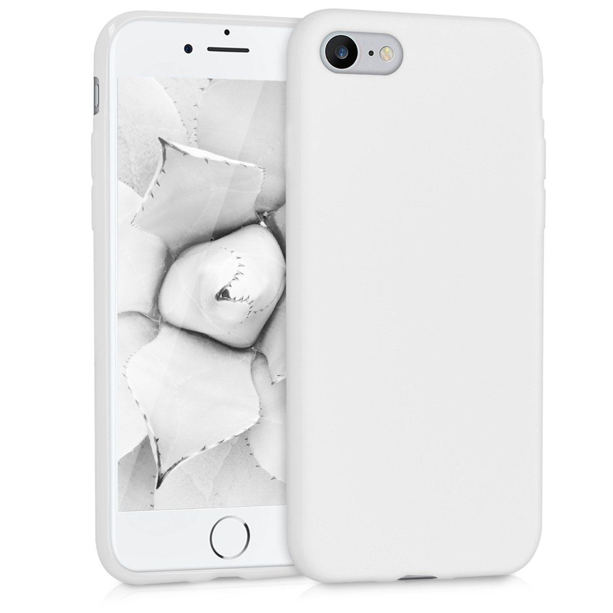 Kwmobile Chic Tpu Silicone Case For The Apple Iphone 7 8 In White Matt Iphone Apple Iphone Iphone 7