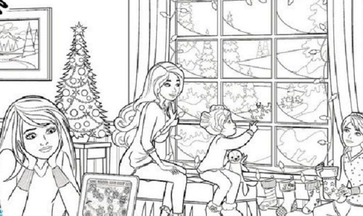 Barbie Dream House Coloring Pages