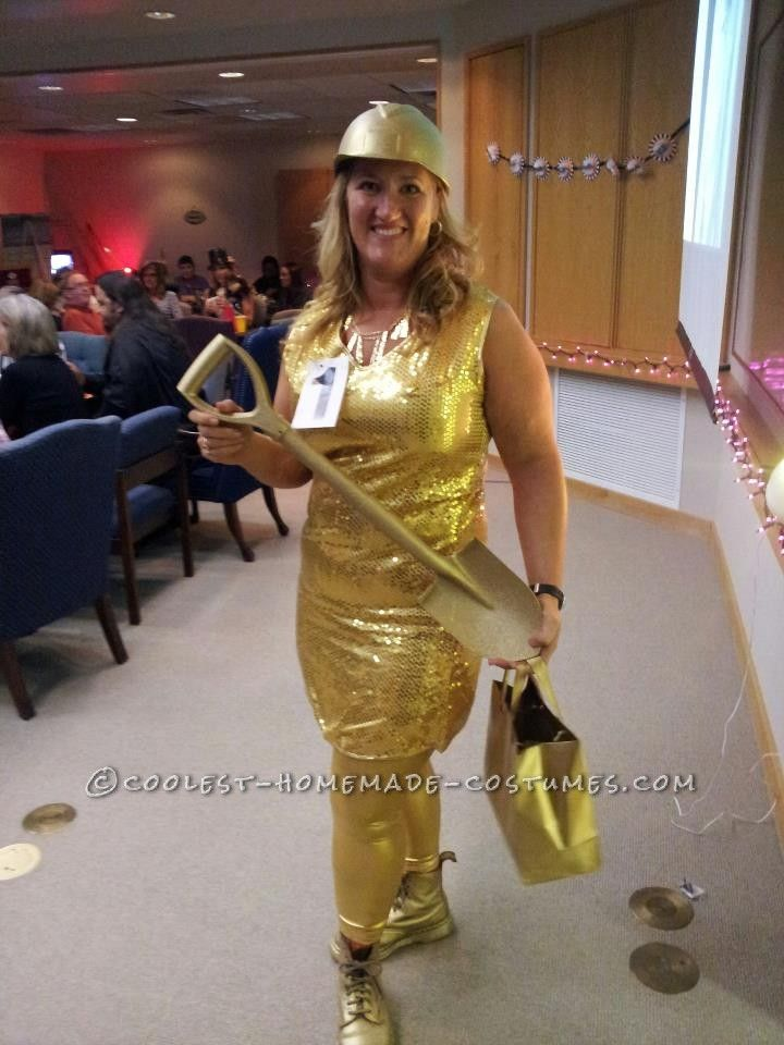 Original Homemade Gold Digger Costume Digger costume, Costumes and - work halloween ideas