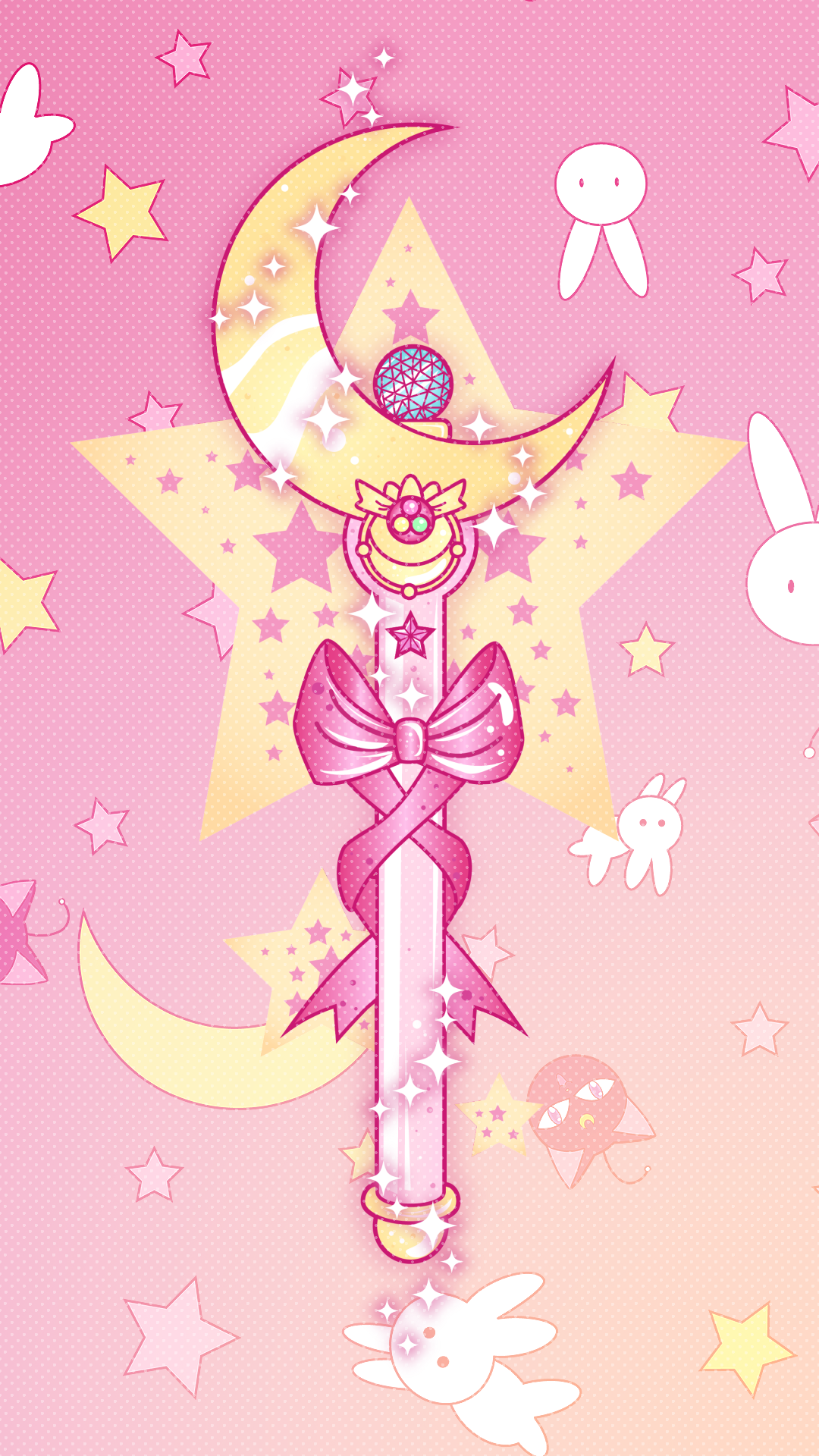 Sailor moon cute pink wallpaper 1080 x 1920 HD (anime
