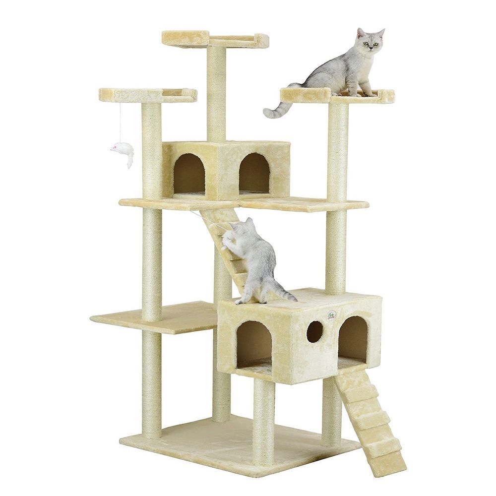Elegant Cat Tree Condo Scratching Post Pet House Tower Kitty Play Toy Furniture  Scratch