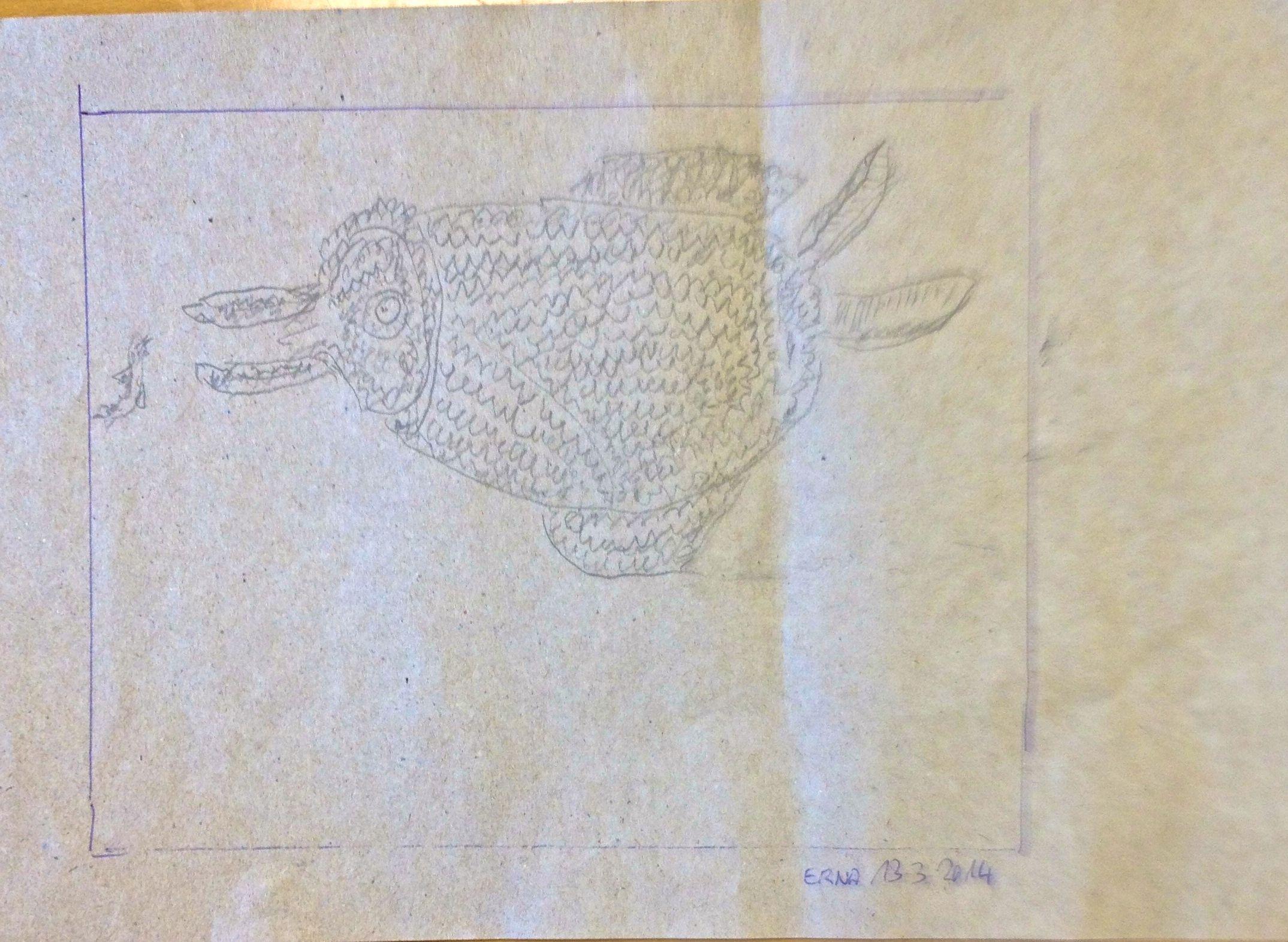 """Doodlefish - Erna """"Hausaufgabe"""" eigener Entwurf"""