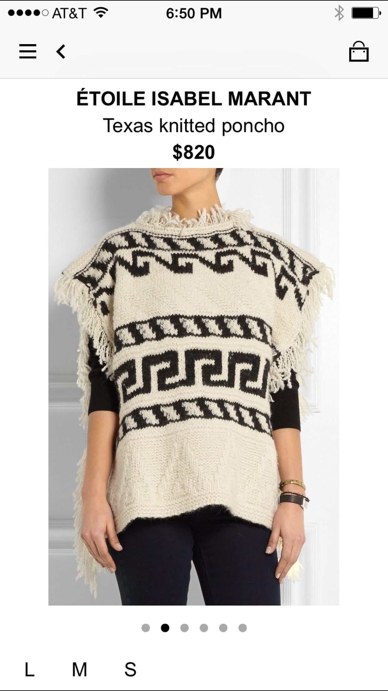 84f2e7649c66 Net a porter | fashion | Knitted poncho, Designer clothes sale ...
