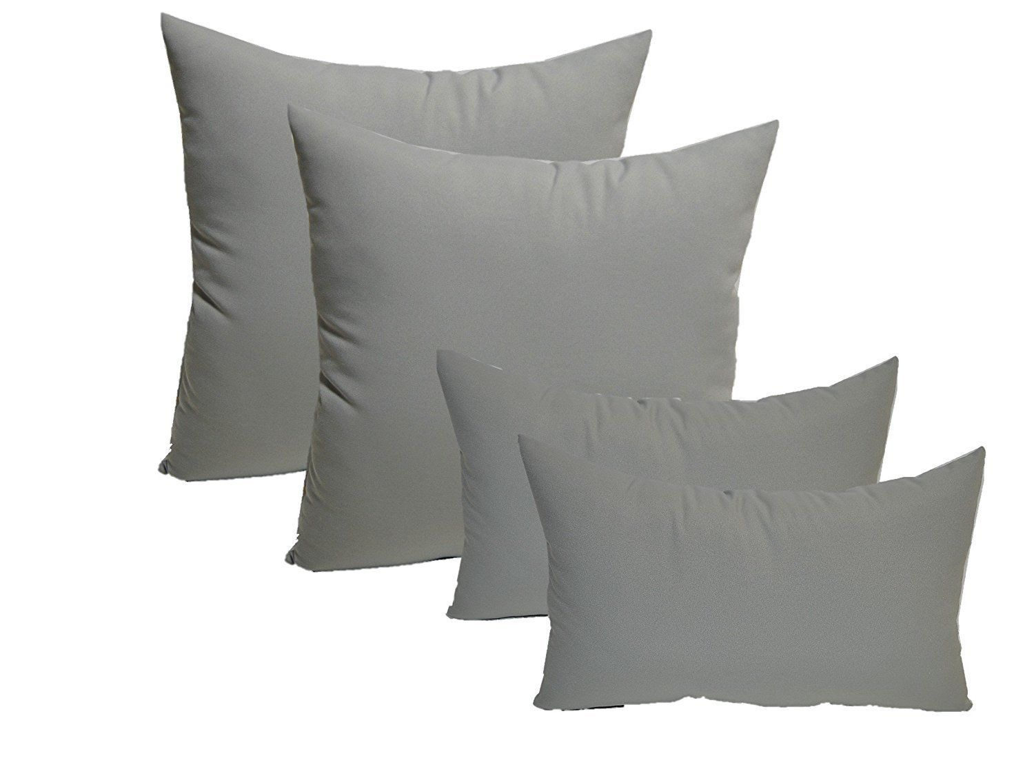 Set Of 4 Indoor Outdoor Pillows 20 Square Throw Pillows And 11 X 19 Rectangle Lumbar Decorativ Indoor Outdoor Pillows Pillows Decorative Throw Pillows