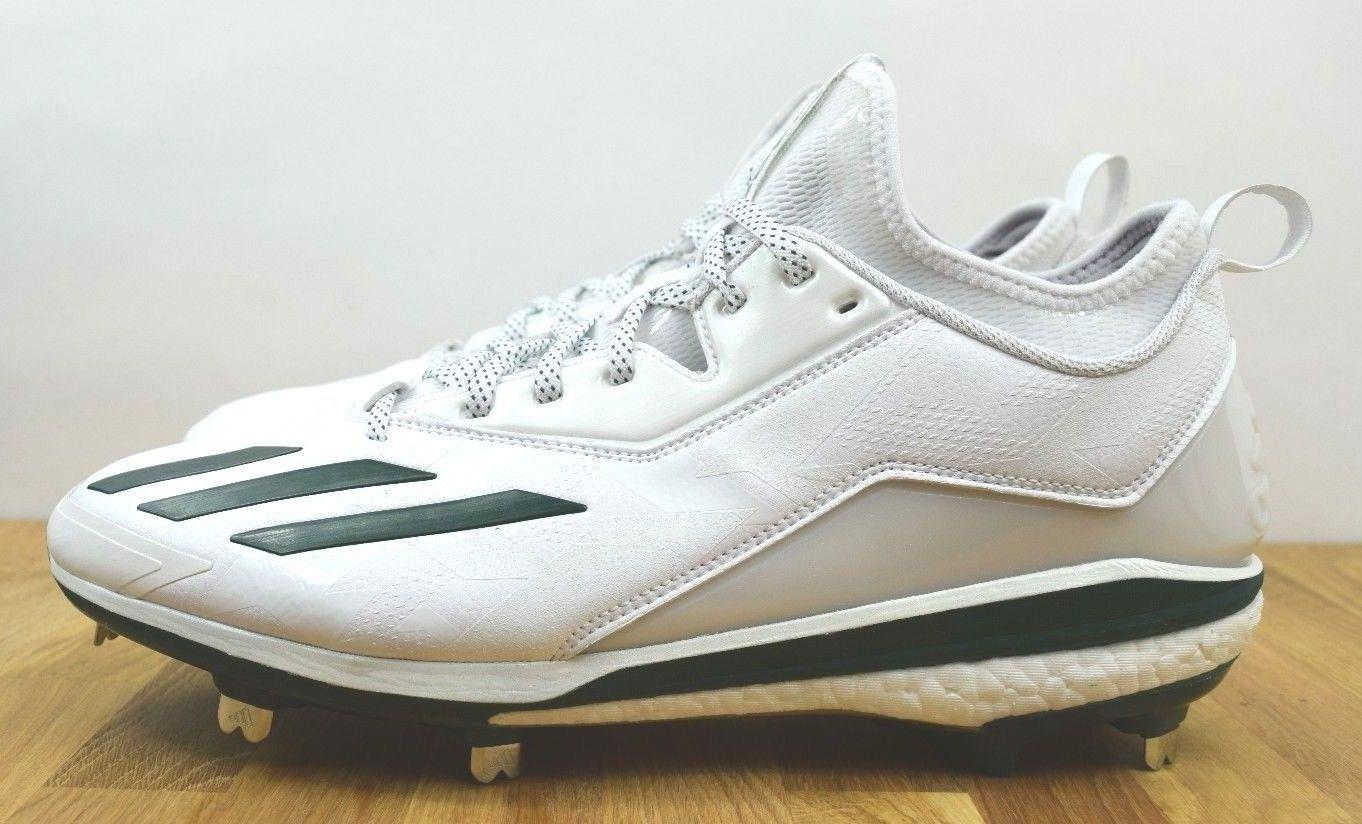 332954cc09c9 Adidas Energy Boost Icon 2.0 Metal Baseball Cleats White Green Size 12.5  Q16533 (eBay Link)